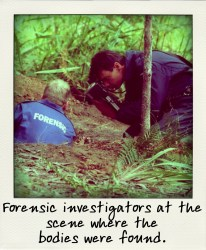 Forensic investigators at the scene where the bodies were found.-aussiecriminals