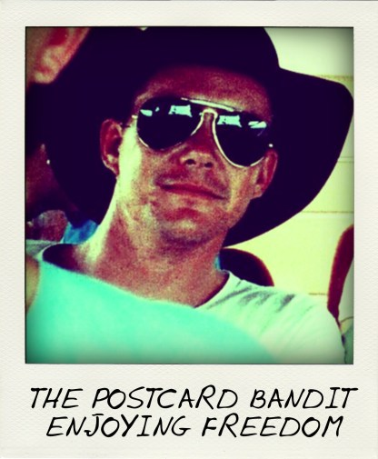 Postcard Bandit Brenden James Abbott, left, before his incarceration.-001-pola