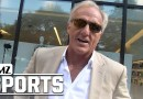 Greg Norman stopped on street; talks about Tiger and a few golf-loving celebs: video