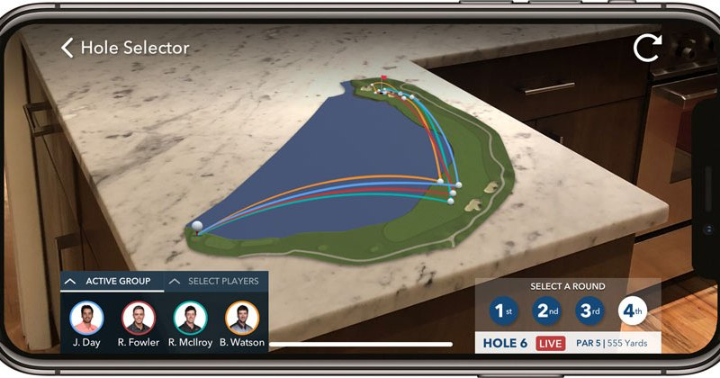 The PGA Tour have just launched a new AR app for iPhone and iPad