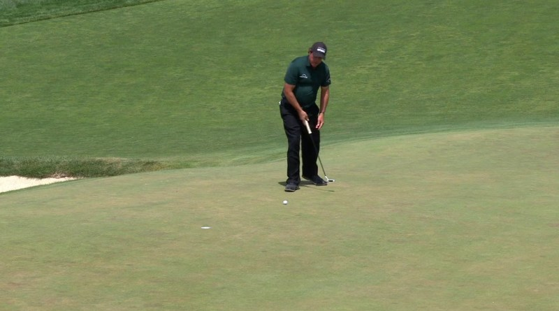 NSFW commentary dubbed over the Phil Mickelson putting incident at US Open