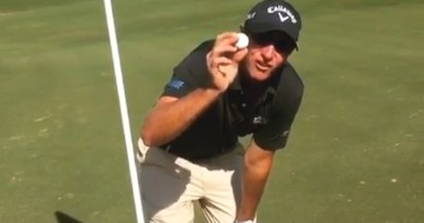 Nicolas Colsaerts just had his first hole-in-one, and it was on a par-4