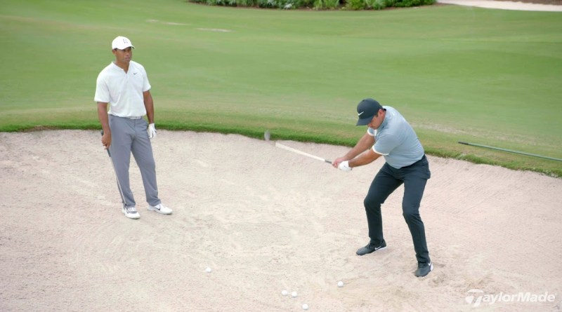 Tiger Woods and Jason Day talk bunker technique: video