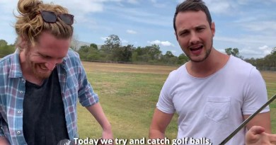 Watch these two guys try and catch each others golf shots