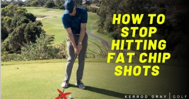 How to eliminate the chunky chip shot: golf instruction video
