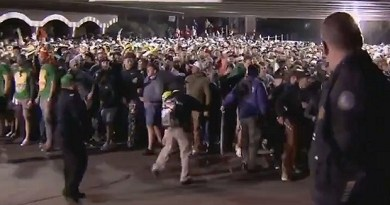 Watch the madness as the gates are opened at the Waste Management Phoenix Open