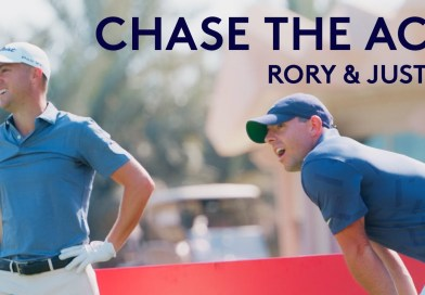 Watch Rory McIlroy & Justin Thomas try to make a hole-in-one with 50 balls