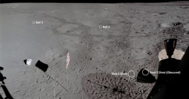 Golf balls were hit on the moon and now we know how far they went