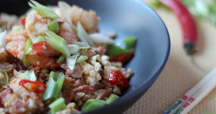 Keto Fried Rice – Bacon & Prawn
