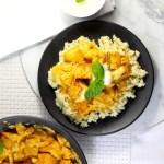 Keto Vegetarian Curry with paneer and cauliflower