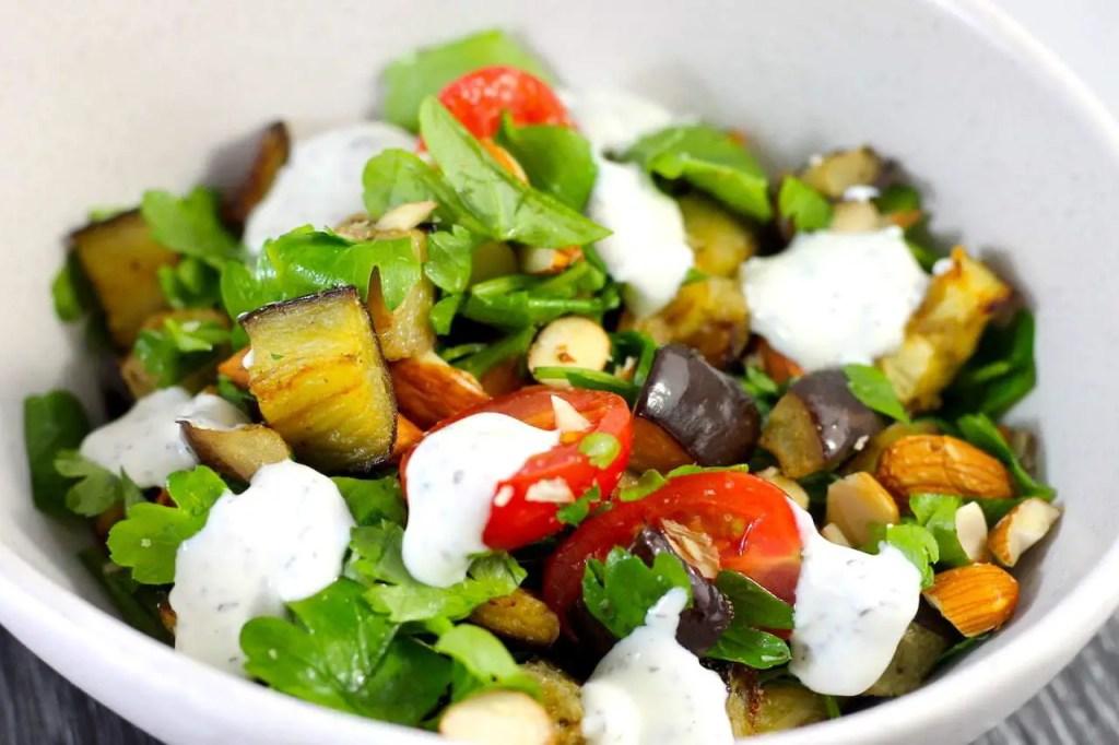 Keto Eggplant Salad, keto roast eggplant salad