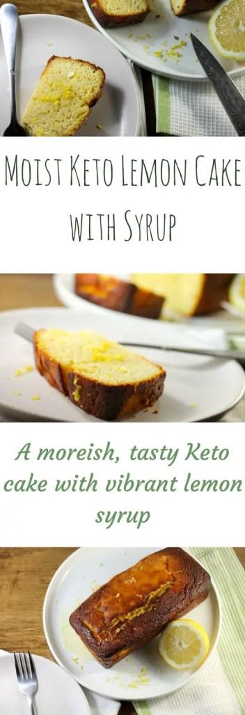 Keto Lemon Cake with Syrup