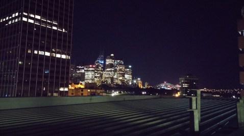 Aussicht vom Dach des Hostels
