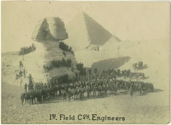 The men of the 1st Field Company Engineers - Original photo - Courtesy Jack Moore Private collection