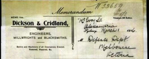 Letterhead Dickson & Cridland