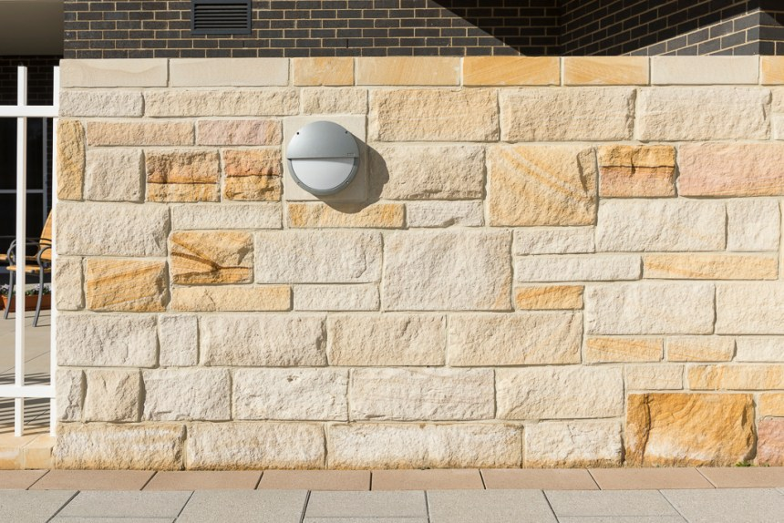 Aussietecture Stone Wall cladding in a residential house exterior wall