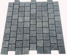 Aussietecture tumbled black cobblestone paver laid in pattern form