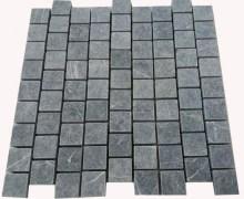Aussietecture tumbled black cobblestone paver laid in pattern form