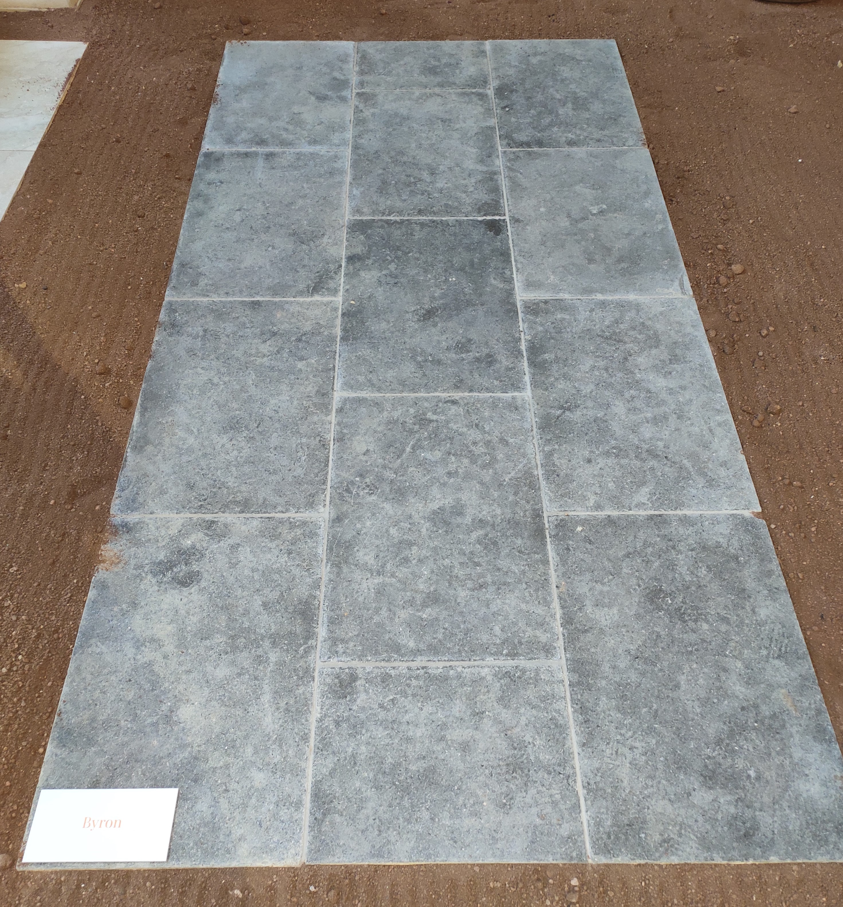 Byron limestone tiles and pavers displayed in Aussietecture stone Sydney showroom