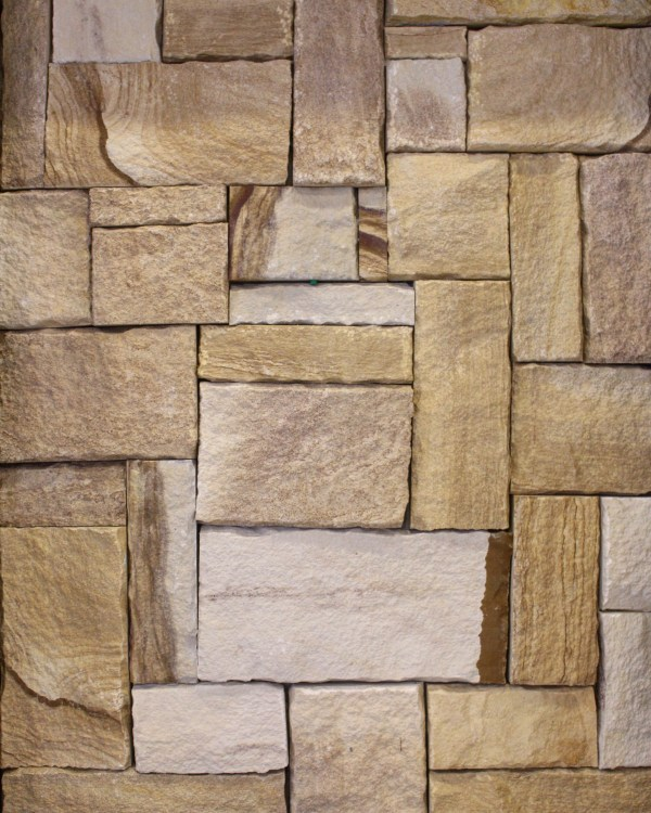 Colonial Ranch Australian sandstone wall cladding displayed in Aussietecture Sydney shop