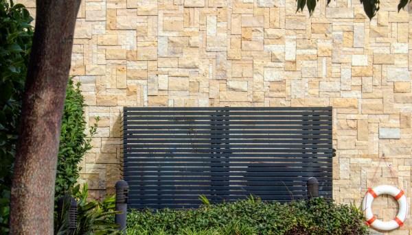 Colonial Simpson wall claddings seen in an exterior wall design of a residential house garden