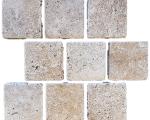 Aussietecture Travertine cobble stone flooring, square pavers