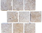 Aussietecture Travertine cobble stone flooring, cobblestone pavers, stone paving