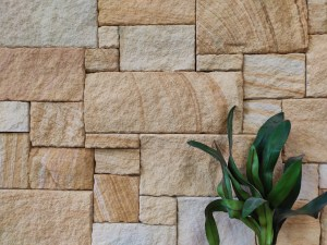 Stone Walling in a residential exterior feature wall application