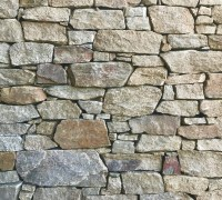 Aussietecture Irregular Franklin Brown walling stone, granite interior and exterior stone veneer