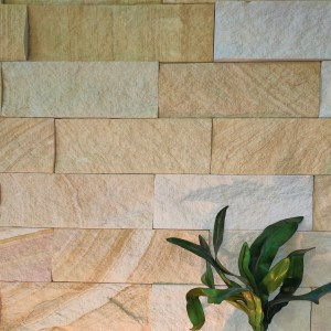 Australian sandstone, kirra banded wall cladding projects with some nice landscape decoration