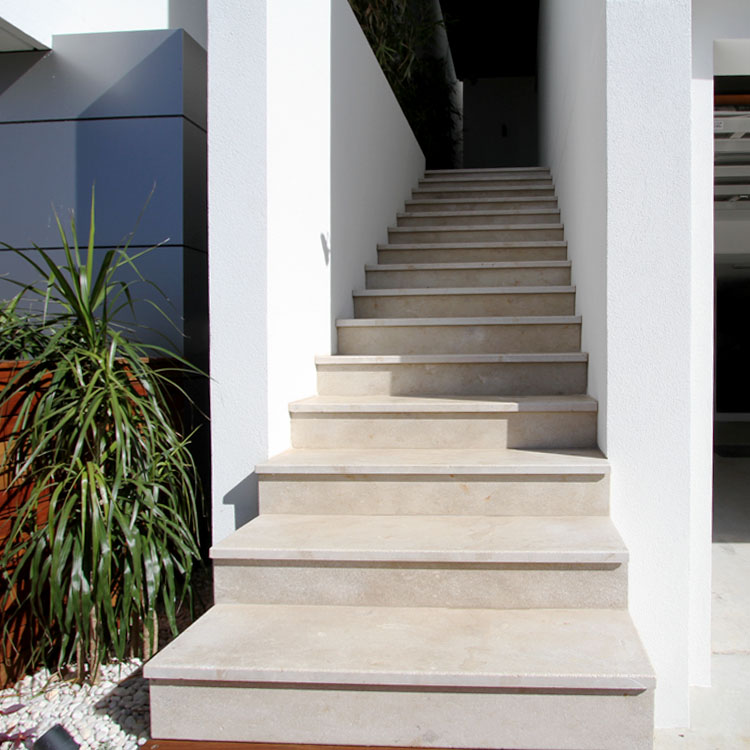 Marble stone stairs seen in a residential home design