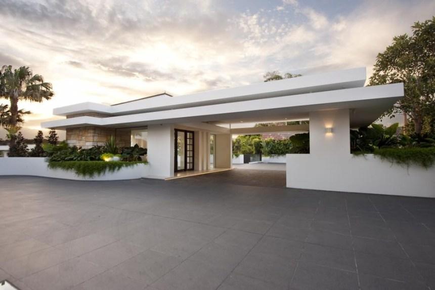 Black granite paver in a residential exterior floor application