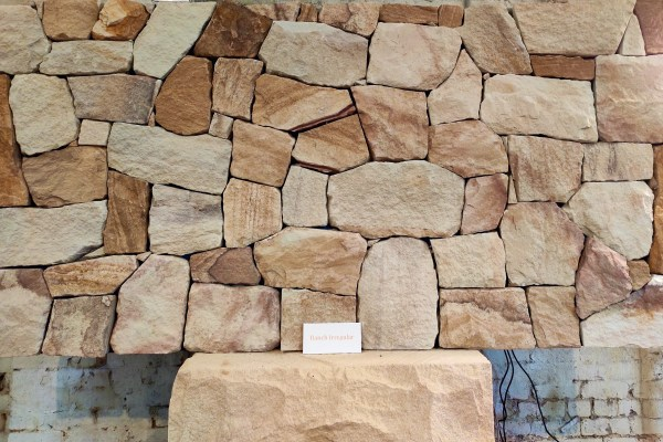 Australian sandstone Ranch wall claddings displayed in Aussietecture Alexandria, NSW showroom