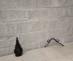 Natural stone landscaping capping paving garden edging, white spilt blocks