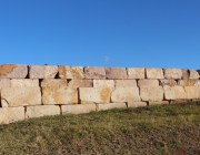 Aussietecture sandstone logs as restaining wall blocks in sydney