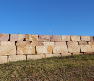 Aussietecture sandstone logs as retaining wall blocks in sydney