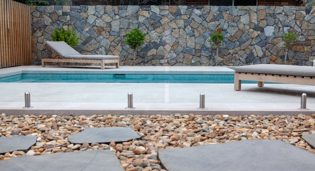 Swimming pool stones
