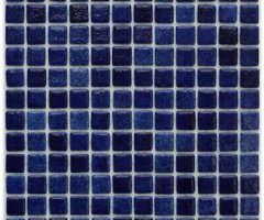 Aussietecture Mykonos swimming pool mosaic, mixed blue glass mosaic for pool tiling