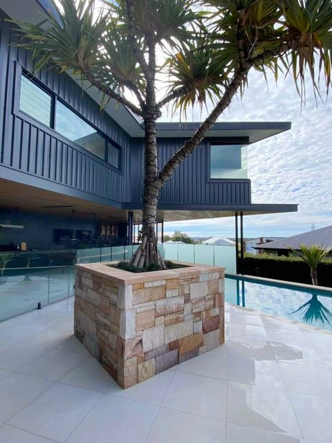 Ranch colonial wall cladding project in Brisbane by plstonemasonry