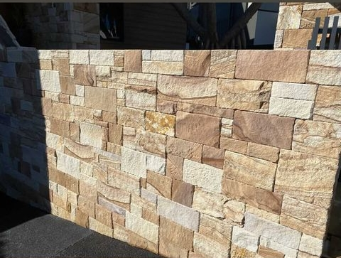 Ranch colonial wall cladding project in Brisbane by plstonemasonry 3