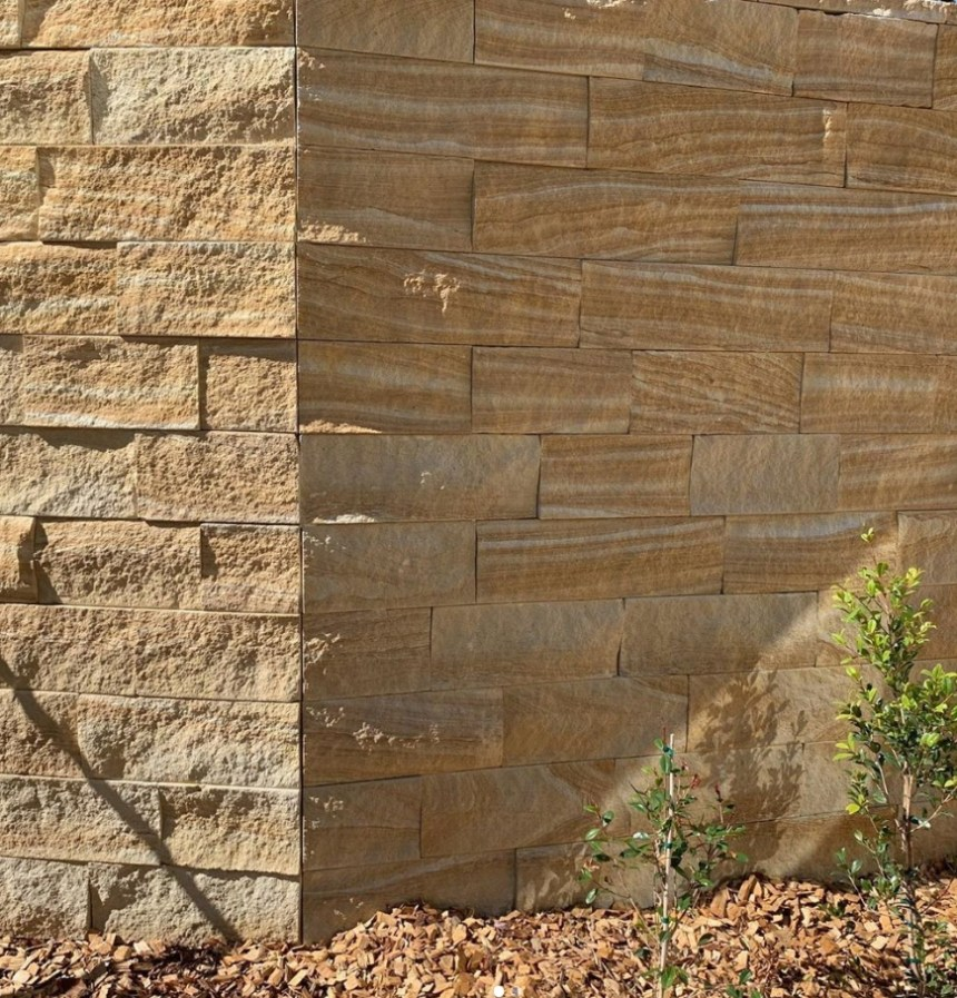 kirra banded brown house wall project