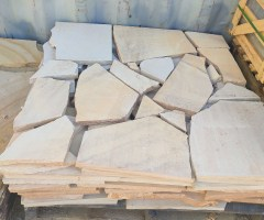 crazy paving sandstone - natural stone garden design