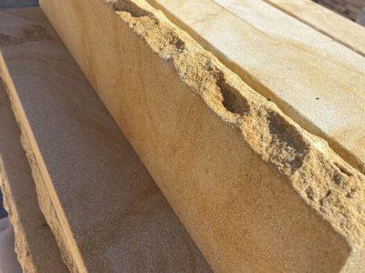 Garden edging - capping sandstone