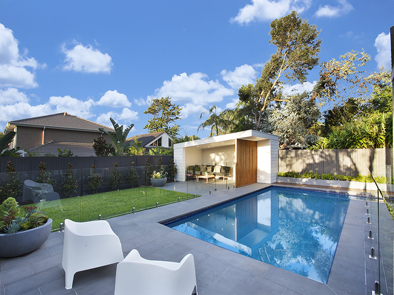 Iluka Sawn Bluestone paver in swimmingpool flooring