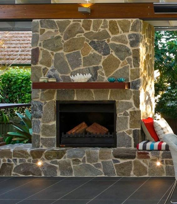 Tilpa irregular mixed granite used in firepalce