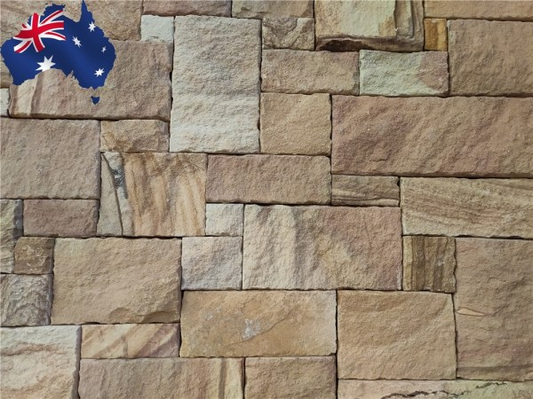 Colonial Ranch Australian sandstone wall cladding for sale