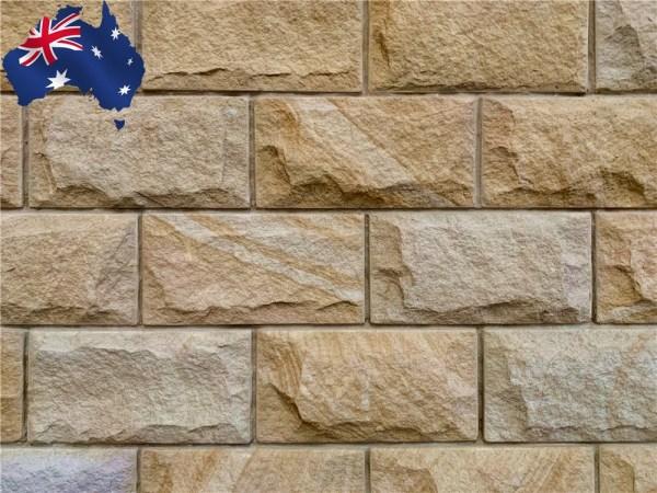 Banded Rockface sandstone walling