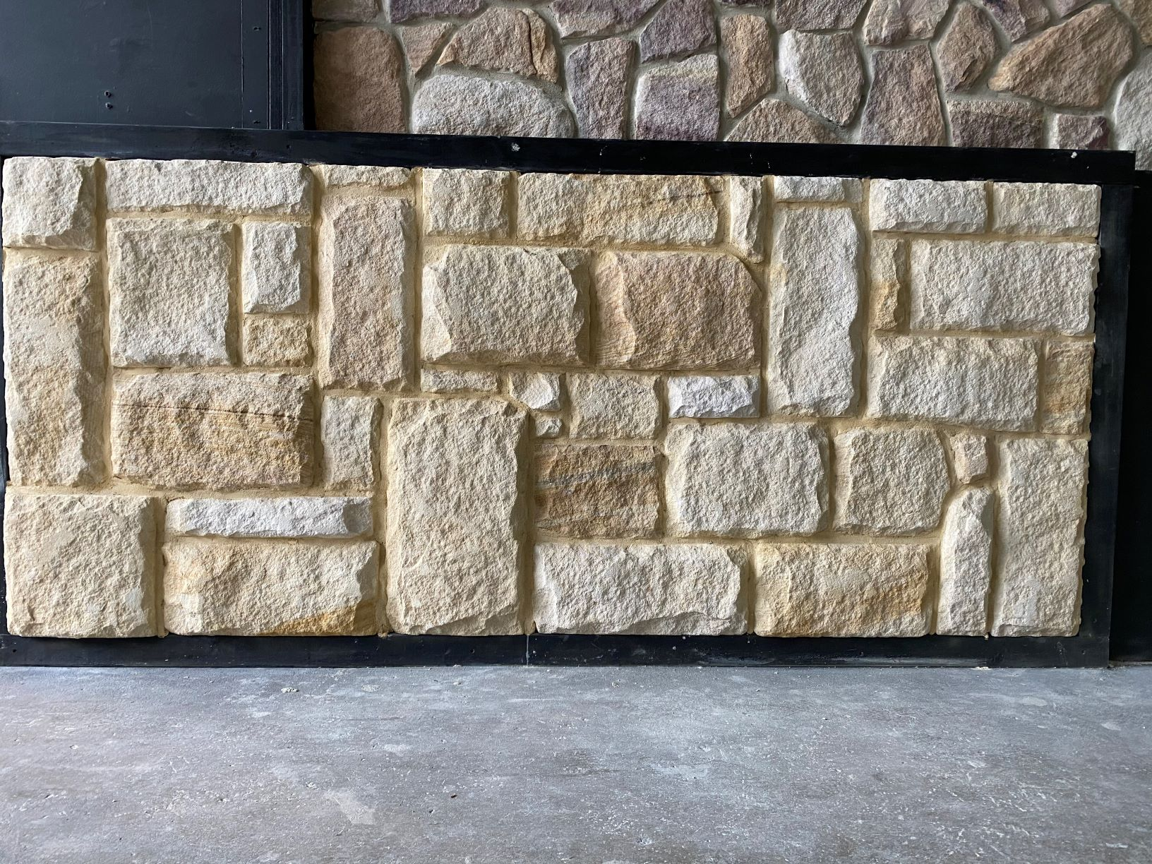 Rustic walling stone display in Aussietecture sydney showroom