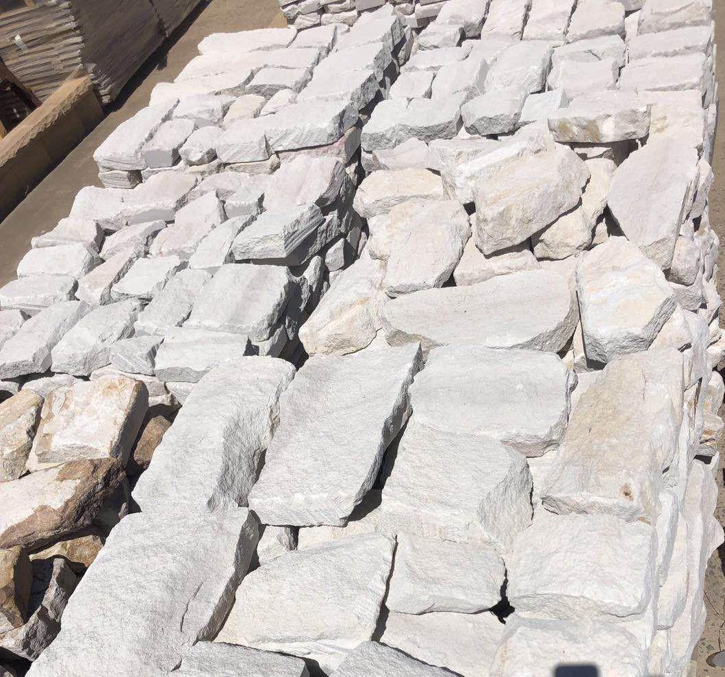 Irregular white sandstone in Aussietecture Toowoomba factory