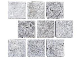 Silver travertine cobblestone paver
